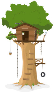 House on a tree, how cute could this be?